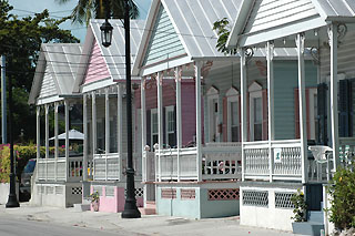 Typical Key West houses